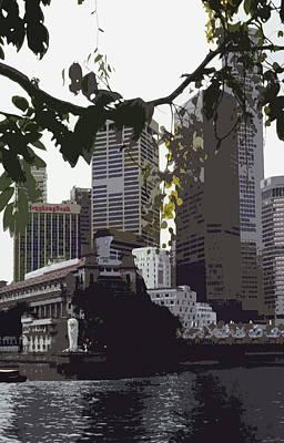 Singapore's Merlion Art Print by Juergen Weiss
