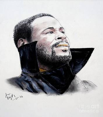 Drawing - Singer Marvin Gaye by Jim Fitzpatrick