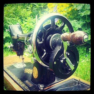 Machine Photograph - Singer Sewing Machine by Laura Whitfield