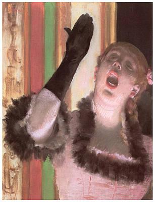 Singer With A Glove Art Print by Edgar Degas