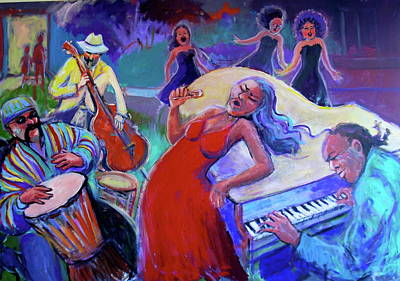 Painting - Singin  The Blues by Anne Marie Bourgeois