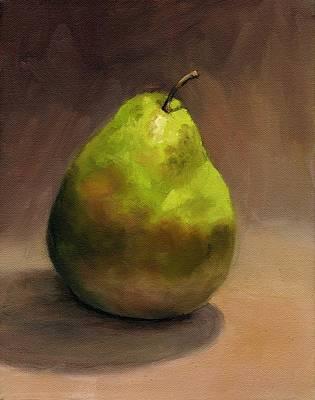 Single Pear No. 1 Art Print by Vikki Bouffard