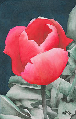 Painting - Single Tulip by Ken Powers