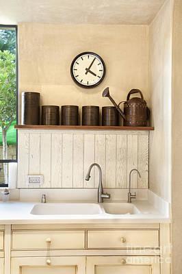 Decorative Sinks Photograph - Sink In A Kitchen Interior by Noam Armonn
