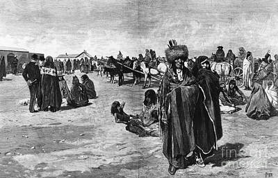 Sioux Ration Day, 1883 Art Print by Granger