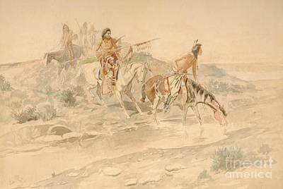 Painting - Sioux War Party by Roberto Prusso