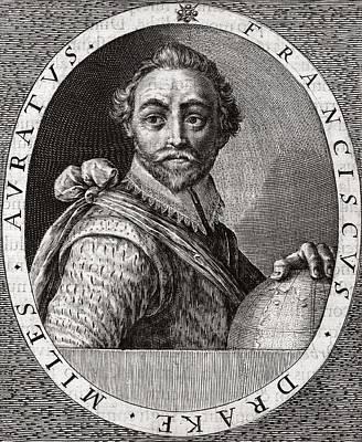 Sir Francis Drake, English Adventurer Art Print