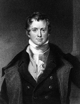 Gas Lamp Photograph - Sir Humphry Davy, English Chemist by Middle Temple Library