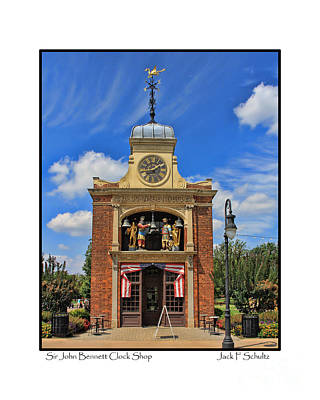 Clock Shop Photograph - Sir John Bennett Clock Shop by Jack Schultz