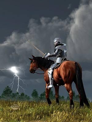 Sir Lightning Rod Art Print