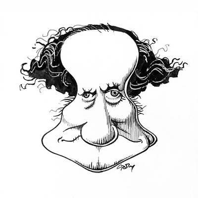 Sir Richard Owen, Caricature Art Print by Gary Brown