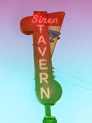 Photograph - Siren Tavern Retro Sign by Kathleen Grace