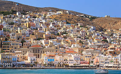 Siros Greece 2  Art Print by Emmanuel Panagiotakis
