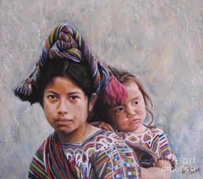 Sisters From Nebaj Art Print by Judith Zur