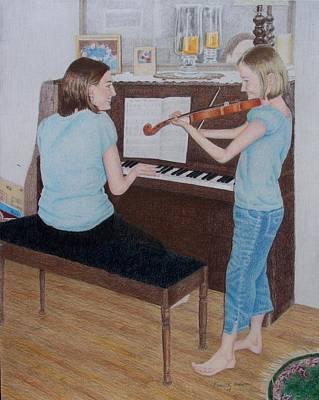 Sisters Art Print by Karen Brannon
