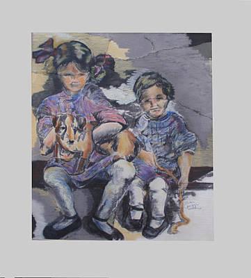 Pastel - Sisters by Karen Camden Welsh