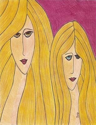 Sisters Print by Ray Ratzlaff