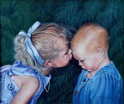 Painting - Sisters by Ruth Gee