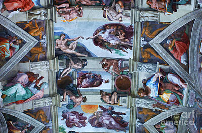 Sistine Chapel Ceiling Print by Bob Christopher