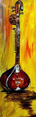 Sitar 1 Art Print by Amanda Dinan