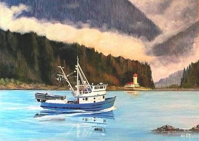 Sitka Painting - Sitka Bay Alaska by Bob Patterson