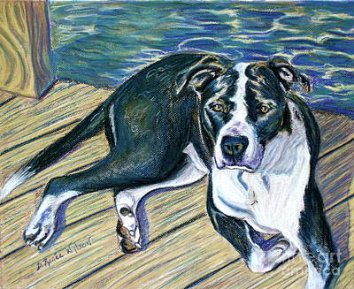 Boxers Painting - Sittin' On The Dock by D Renee Wilson