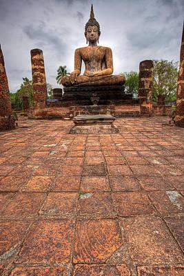 Tourism Digital Art - Sitting Buddha by Adrian Evans
