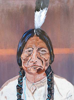 Painting - Sitting Bull by Bill Manson