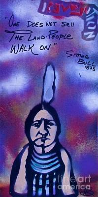 Tony B. Conscious Painting - Sitting Bull...land by Tony B Conscious