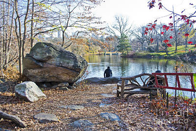 Photograph - Sitting By The Lake by Theodore Jones