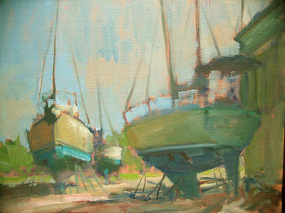 Painting - Sitting Dock by Berto Ortega