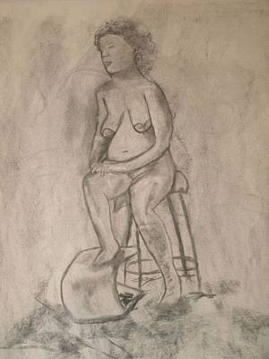 Drawing - Sitting Figure by Samantha L