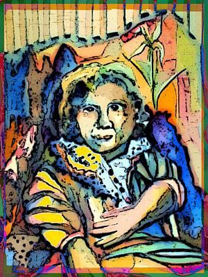 Sitting Gertie Art Print by Mindy Newman
