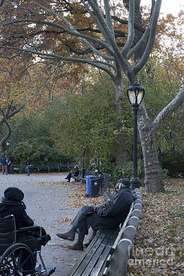 Photograph - Sitting In The Park by Theodore Jones