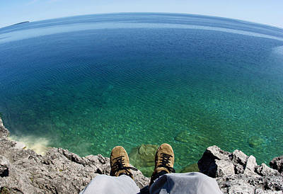 Point Of View Photograph - Sitting On A Cliff by Cale Best