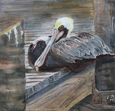 Painting - Sitting On The Dock Of The Bay by Libby  Cagle