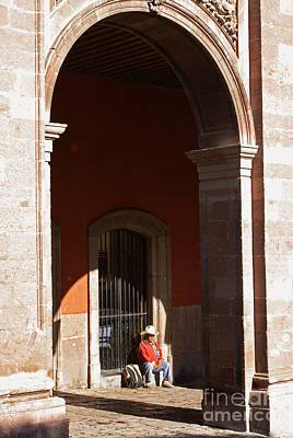 Photograph - Sitting Under The Arches San Miguel De Allende Mexico by John  Mitchell