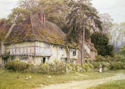 Six Bells Hollingbourne Kent  Art Print by Helen Allingham