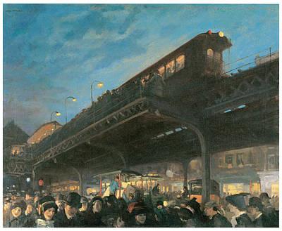 Sloan Painting - Six Oclock by John Sloan