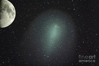 Size Of Comet Holmes In Comparison Art Print by Rolf Geissinger