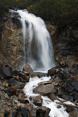 Skagway Alaska Waterfall 8576 Print by Michael Peychich