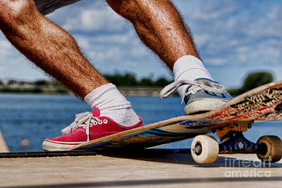 Photograph - Skateboarding by Andrea Kollo