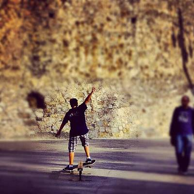 Iger Photograph - Skateboarding by Tommy Tjahjono
