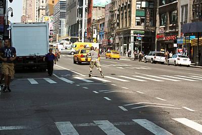 Skater Catching A Cab Original