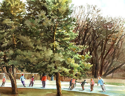 Painting - Skaters by Peter Sit