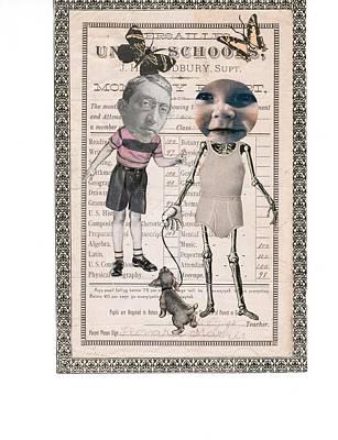 Skelatal Report Card Art Print