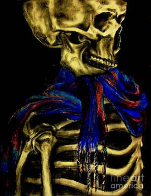 Skeleton Fashion Victim Art Print by Tylir Wisdom