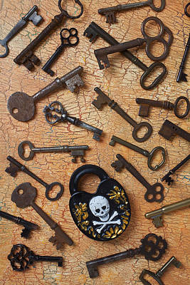 Skeleton Lock And Keys Art Print