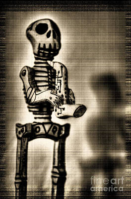 Photograph - Skeleton Musician by Morgan Wright
