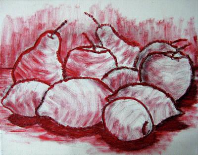 Passion Fruit Painting - Sketch - Tasty Fruits by Kamil Swiatek